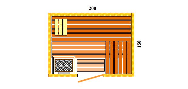 Schiţe Sauna Pro Komfort
